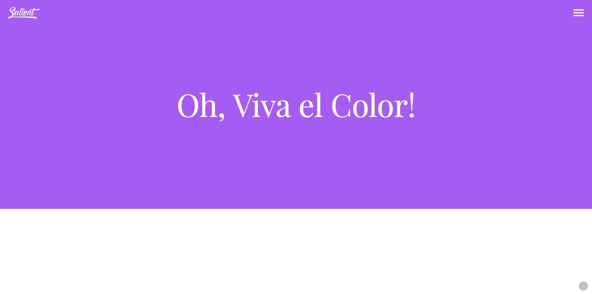 Colores vivos y fuentes grandes